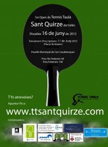 Cartell del I Open de Sant Quirze del Vallès