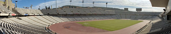 Lluís Companys Olympic Stadium, the home of athletics at the 1992 Olympic Games in Barcelona